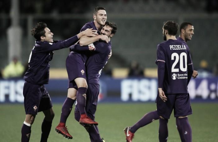 Em jogo de três pênaltis, Veretout marca duas vezes e Fiorentina elimina Sampdoria da Copa Itália
