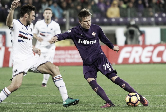 Fiorentina tropeça em casa na Sampdoria e perde oportunidade de colar na zona de UEL