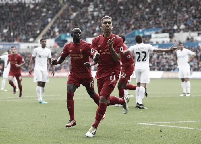 De virada, Liverpool bate Swansea e assume vice-liderança provisória da Premier League