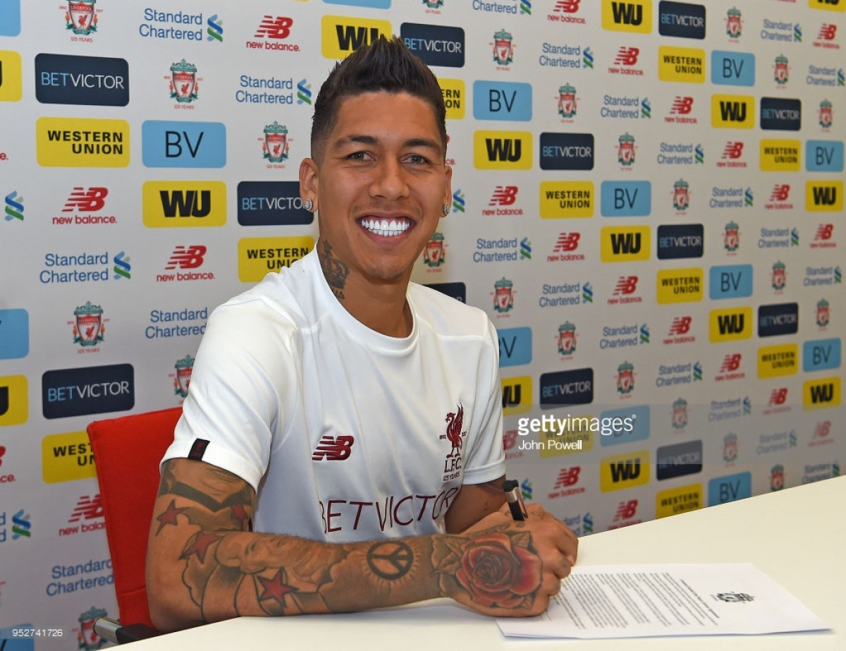Roberto Firmino puts pen to paper on fresh Liverpool contract
