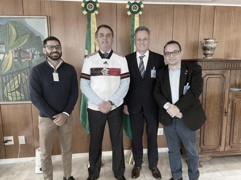 Rodolfo Landim explica que reunião com Bolsonaro foi para 'defender interesses do Flamengo'