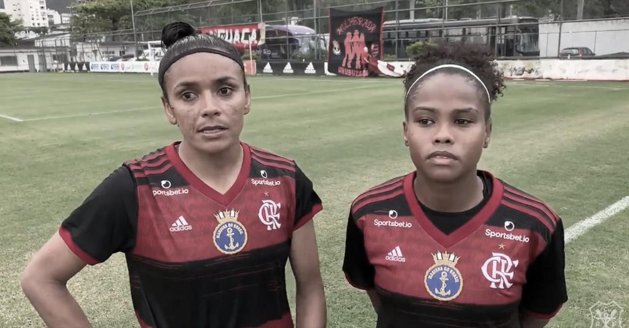 """Zagueira Cida lamenta empate do Flamengo contra Ferroviária: """"Tivemos oportunidade de vencer"""""""