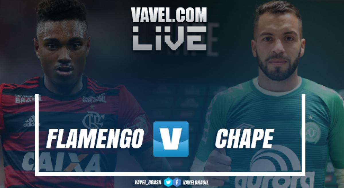 Resultado Flamengo x Chapecoense pelo Campeonato Brasileiro 2018 (2-0)
