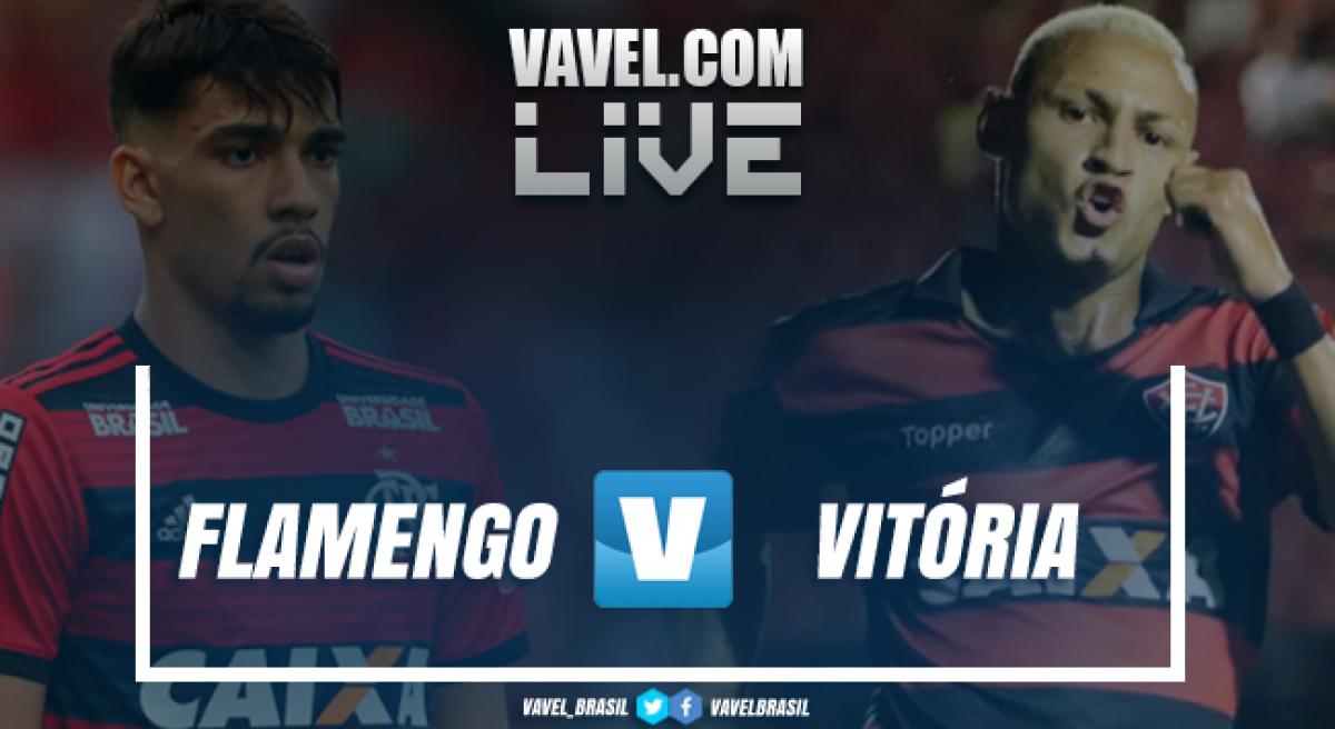Resultado Flamengo x Vitória pelo Campeonato Brasileiro 2018 (1-0)
