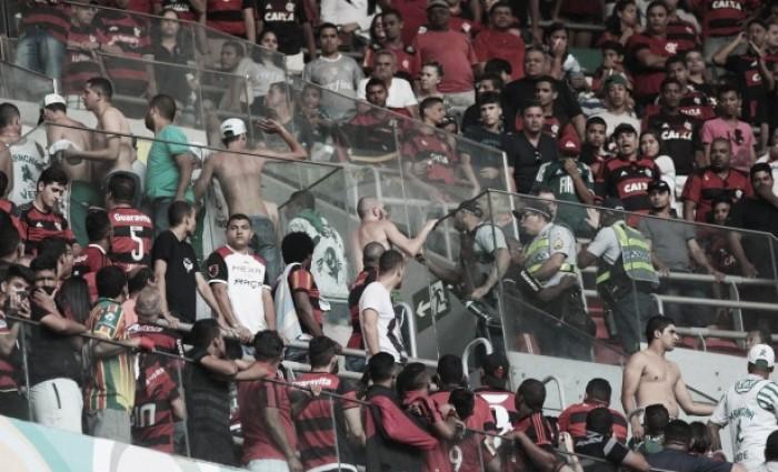 Flamengo e Palmeiras são punidos pelo STJD após confusão no Mané Garrincha