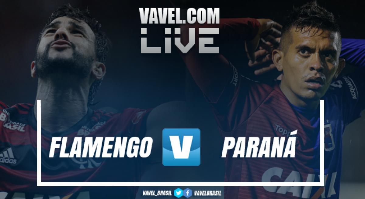 Resultado Flamengo x Paraná pelo Campeonato Brasileiro 2018 (2-0)