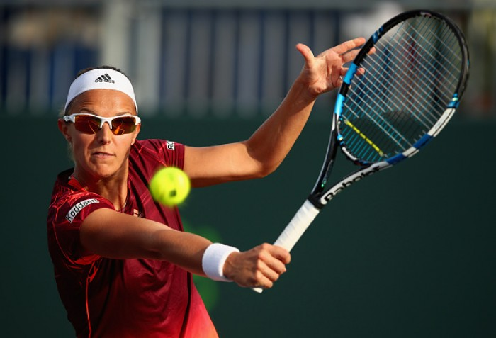 WTA Miami: Kirsten Flipkens Comes From Behind To Win In Straight Sets Against Laura Robson