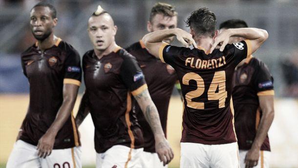 Champions, un eurogol di Florenzi stoppa il Barça. La Roma inizia con un pareggio (1-1)