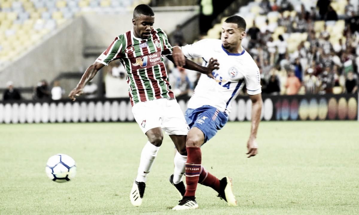 Fluminense sai na frente, mas cede empate ao Bahia no Maracanã
