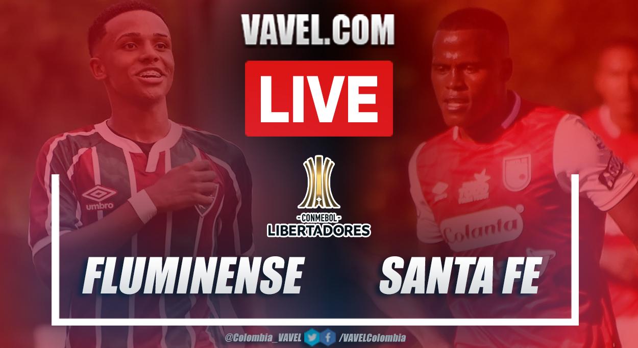 Resumen Fluminense vs Santa Fe (2-1)en la fecha 4 del grupo D por Copa Libertadores 2021