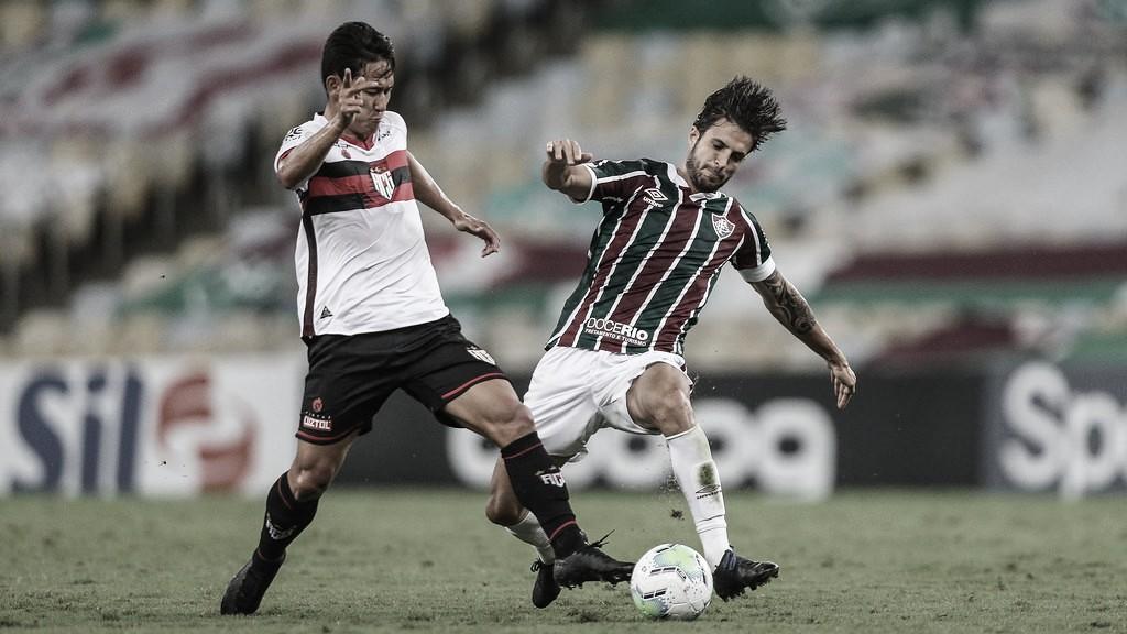 Com um jogador a menos, Fluminense cede empate ao Atlético-GO no Rio