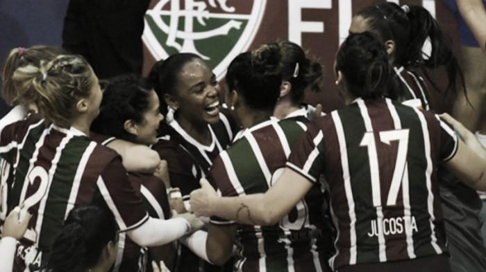 """Sassá comemora título Carioca no vôlei: """"Fizemos história no Fluminense"""""""