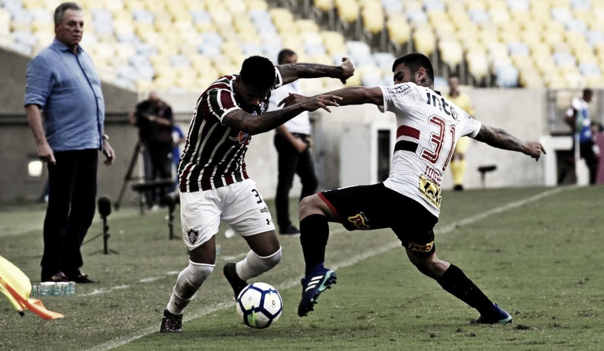 Fluminense sai atrás, mas arranca empate no fim com o São Paulo