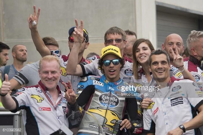 Morbidelli surged through the field to claim third in Aragon Moto2