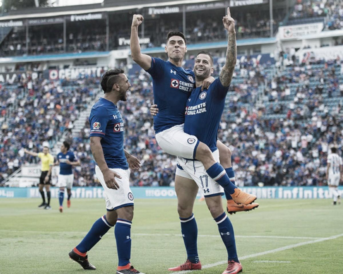 Goleada a Pachuca; Cruz Azul gana en casa