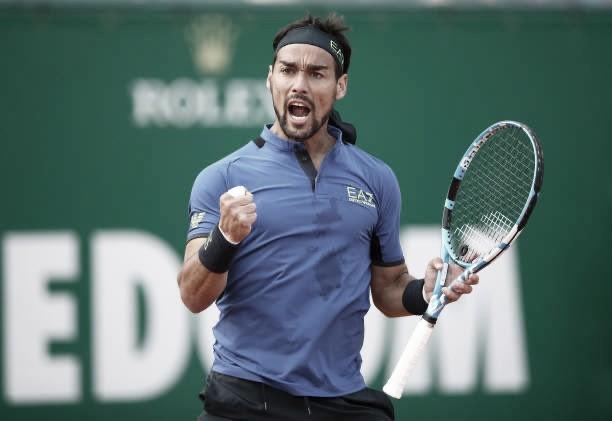 Em dois sets, atual campeão Fognini vence Krajinovic e segue em Monte Carlo