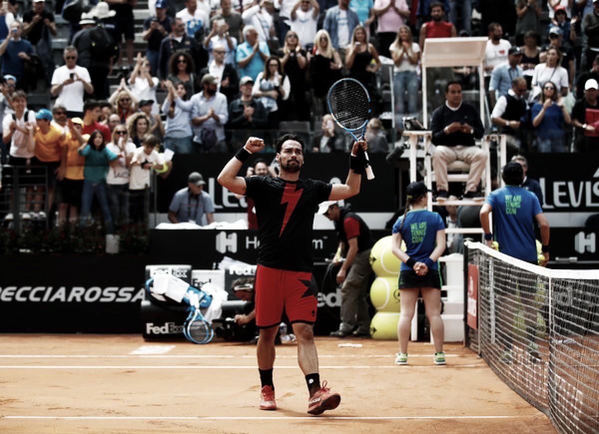 Fognini sigue soñando en Roma