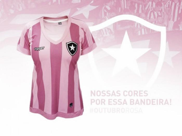 Em homenagem à luta contra câncer de mama, Botafogo lança camisa rosa