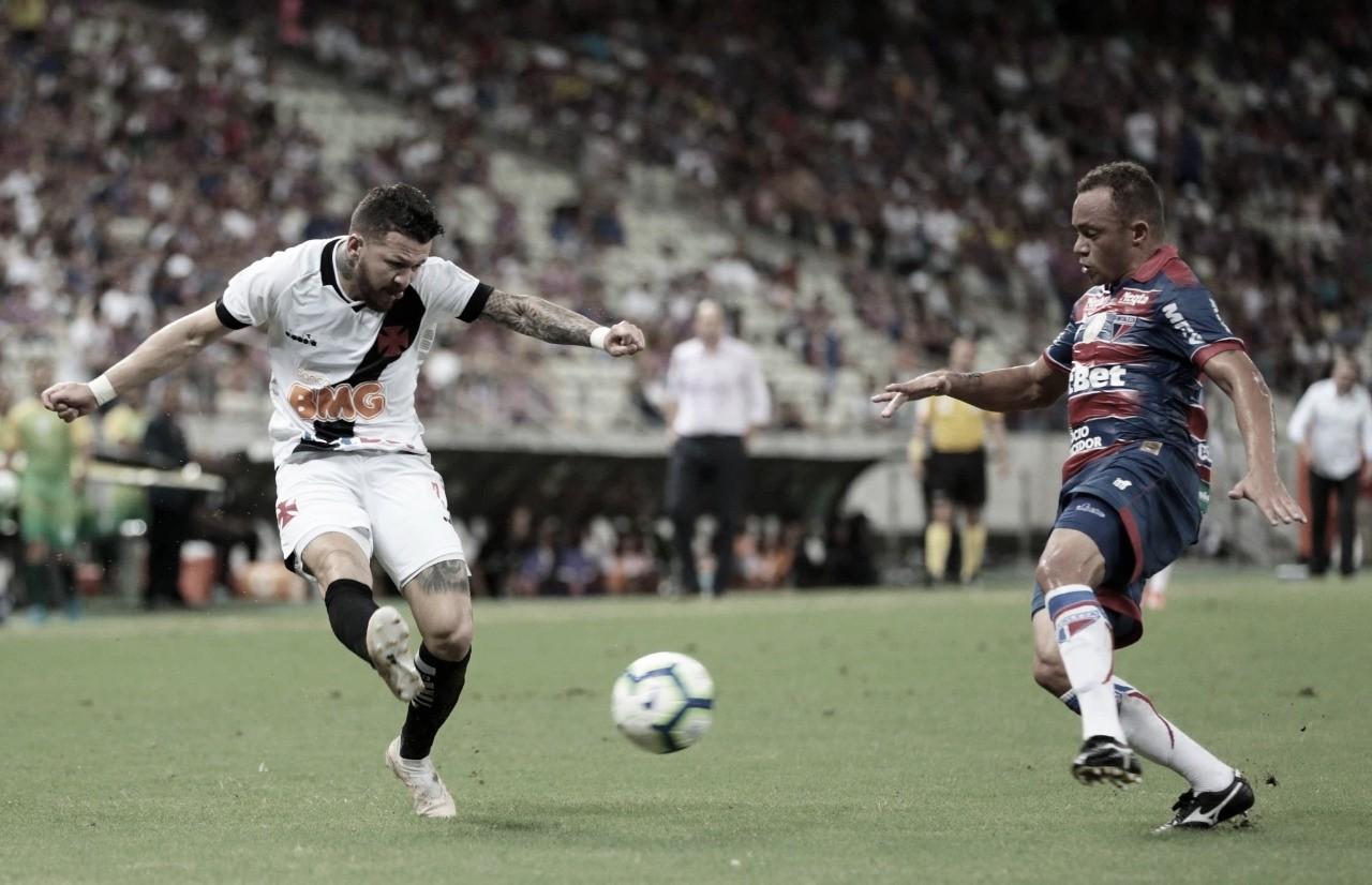 Com gol no final, Fortaleza busca empate com Vasco no Castelão