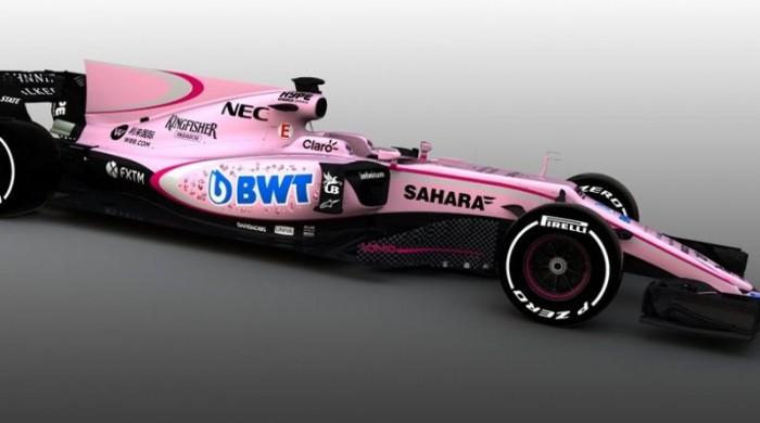 Nuova livrea rosa per Force India. Il Palermo commenta: