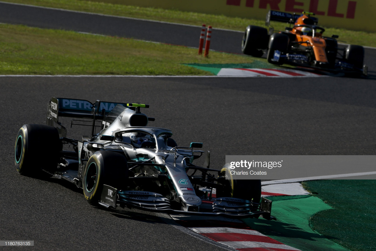 Bottas wins the Japanese Grand Prix as Mercedes clinch sixth consecutive title