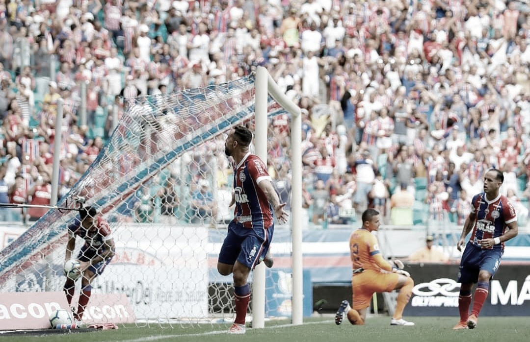 Cavadinha de Felipe Pires e gol de Gilberto marcam empate entre Bahia e Fortaleza