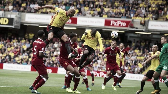 En un emocionante partido, Watford y Liverpool igualaron 3-3
