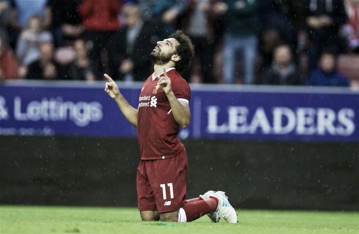 Mohamed Salah anotó su primer gol en el Liverpool