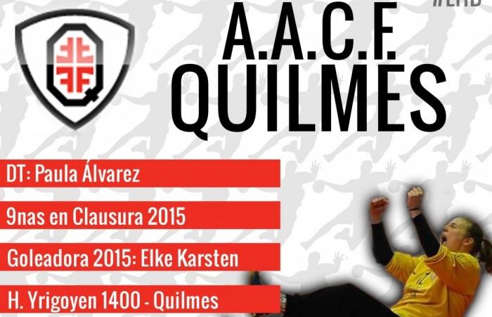 Guía VAVEL LHD 2016: A.A.C.F Quilmes: Pau Álvarez