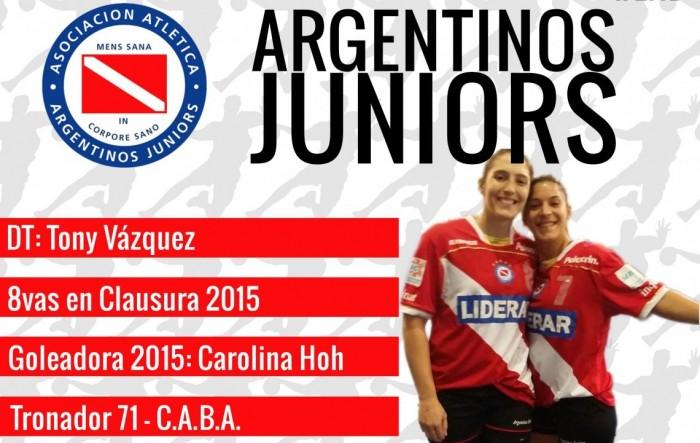 Guía VAVEL LHD 2016: Argentinos Juniors: Carolina Hoh - Tony Vázquez