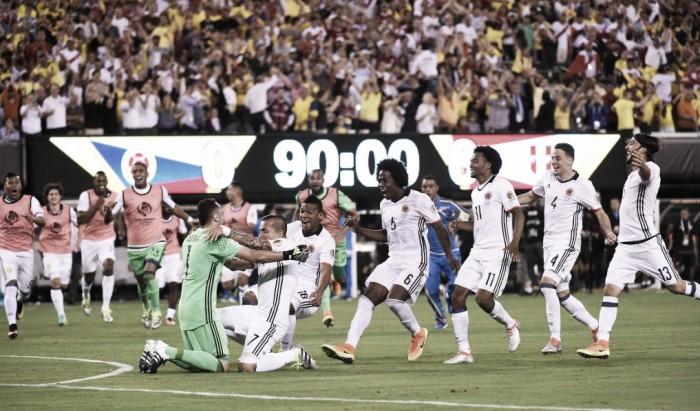 Colombia clasifica a semifinales desde el punto penal