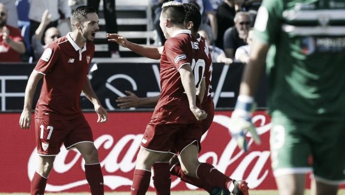 Sevilla bate Leganés, assume liderança provisória e volta a vencer fora de casa após mais de um ano