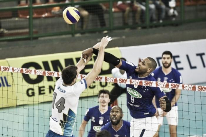 Resultado Sada Cruzeiro x Sesc-RJ pela Semifinal da Copa do Brasil de Vôlei (3-1)