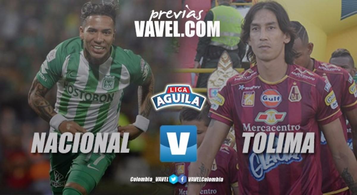 Previa Atlético Nacional vs Deportes Tolima: Los 'verdolagas' van por los 3 puntos para recuperar la confianza de su hinchada