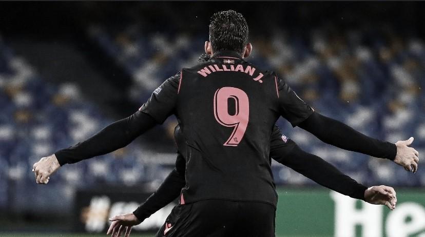 Willian José vistiendo la camiseta de la Real Sociedad/Fuente: Real Sociedad Twitter