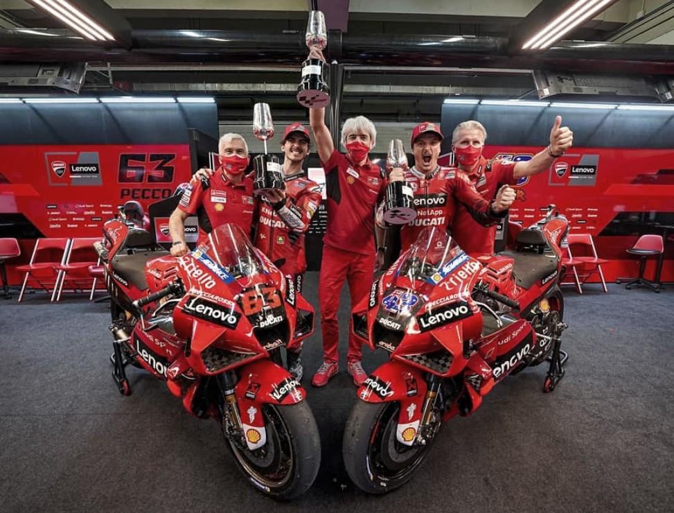 Ducati, la fiesta tras lavictoria