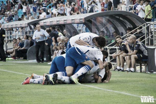 El Real Zaragoza arrancó, aunque más tarde de lo esperado