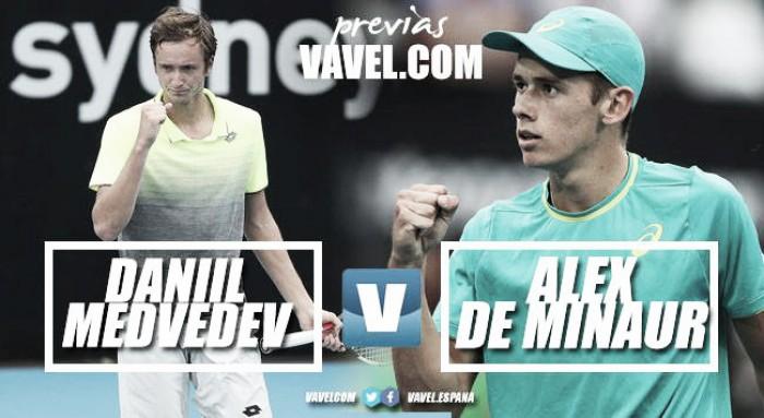 Previa Daniil Medvedev - Alex de Minaur: dos futurosya muy presentes, frente a frente