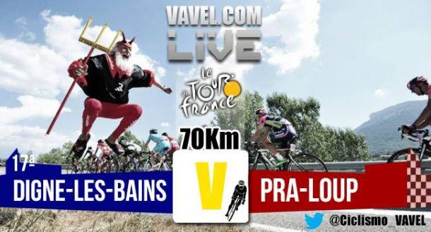 Posiciones de la decimoséptima etapa del Tour de Francia 2015: Digne Les Bains - Pra Loup