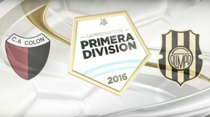 Resultado Colón 3-1 Olimpo en el Torneo de Transición 2016