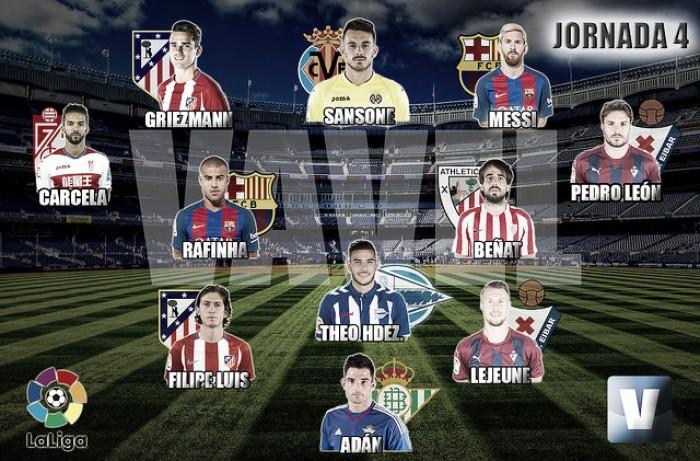 El Once de Oro de VAVEL: 4ª jornada de la La Liga