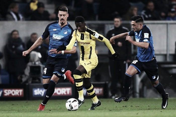 Bundesliga - Dembelé salva il Dortmund, è 2-2 sul campo dell'Hoffenheim