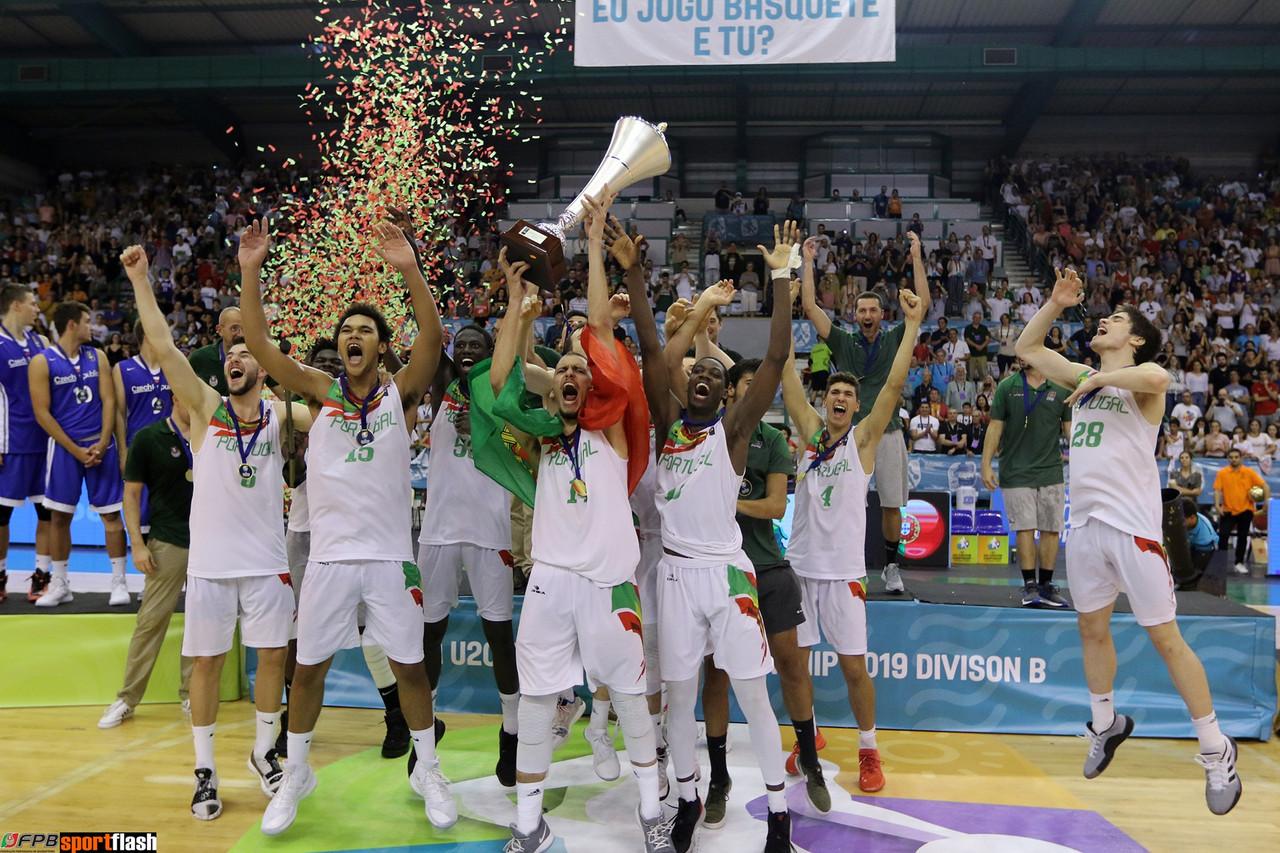 Portugal campeão europeu em sub 20 no Basquetebol