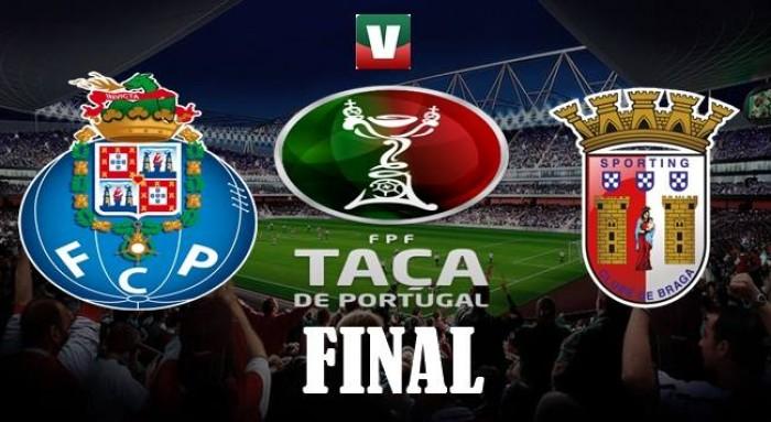Resultado FC Porto x SC Braga na Final da Taça de Portugal (2-2/2-4 g.p)