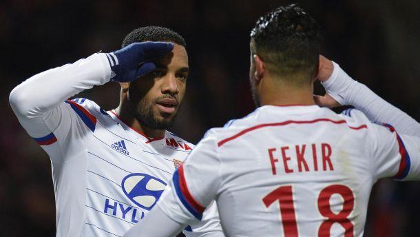 Les buts de Lyon - Caen