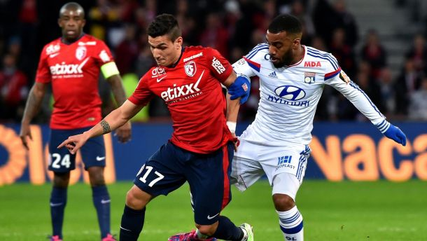 Les buts de Lille - Lyon
