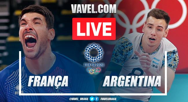 Pontos e melhores momentos de França 3x0 Argentina vôlei masculino pelas Olimpíadas de Tóquio 2020