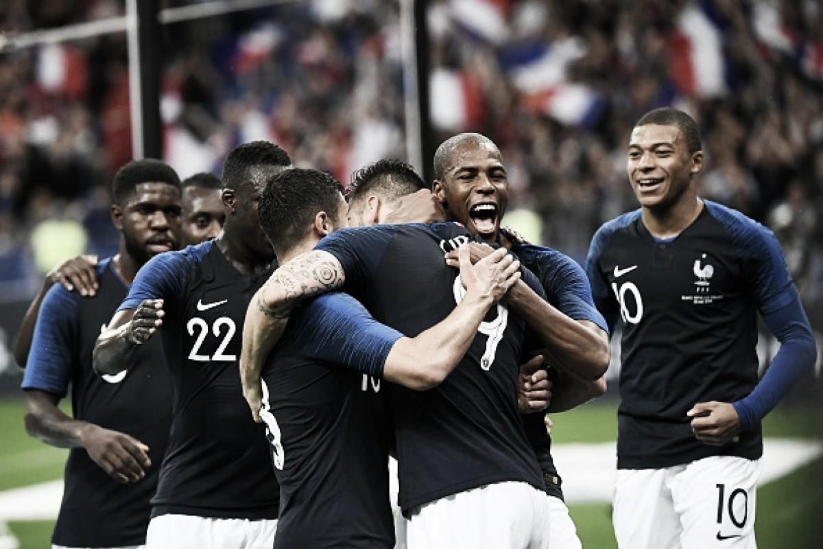 Testando reservas, França supera Irlanda com tranquilidade em Paris
