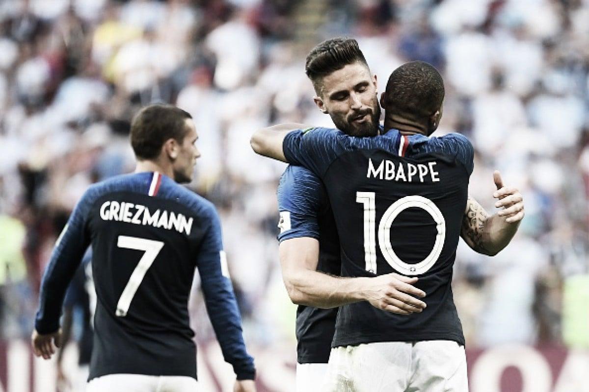 11 contra 11: França leva vantagem no comparativo entre titulares contra Uruguai
