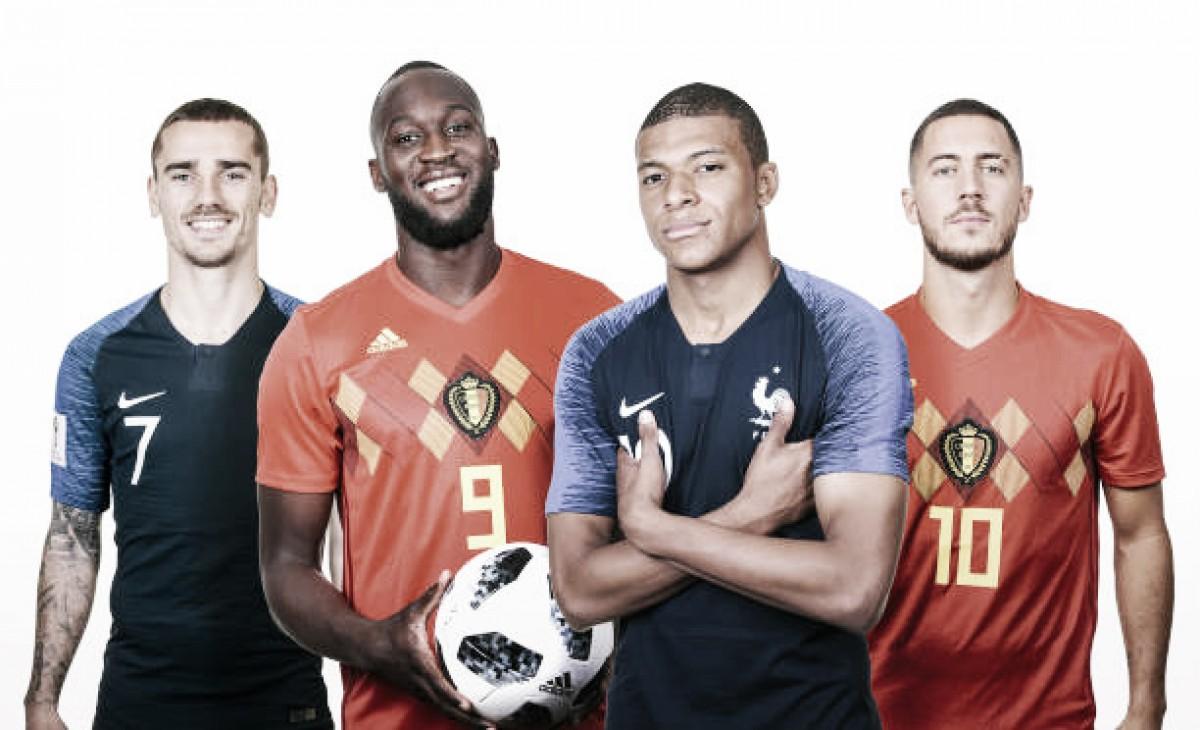 O que esperar do confronto entre França x Bélgica?